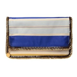 STELLA MCCARTNEY  - silk striped clutch