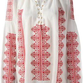 Altuzarra - Melody Embroidered Top in White