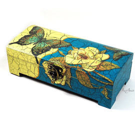 Wooden nautical box  - trinket box for jewelry - chest of drawers - wedding, keepsake, home decor, gift idea for her - made to order