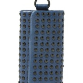 PATRICK STEPHAN - Leather key case 'all-studs' colore'