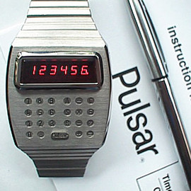 Pulsar - Calculator Watch - stainless steel
