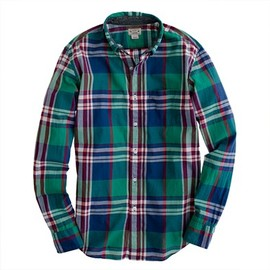 J.CREW - Indian cotton shirt in Broome plaid