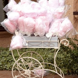 Tea cart as Cotton Candy Caddy