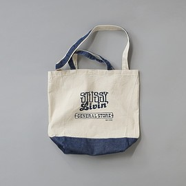 "Stussy Livin' General Store - GS 2 Way Denim Tote Bag ""Daikanyama Chapter Exclusive"""