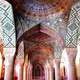 Shiraz, Iran - Nasir al-Mulk Mosque, city of Shiraz, Iran