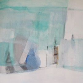 Sally King Benedict - STATION 18 1/2, 2012, acrylic, gouache, charcoal and oil pastel on canvas