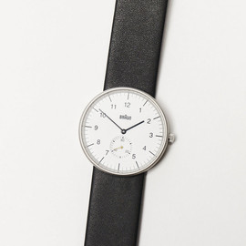 BRAUN - analog watch, white