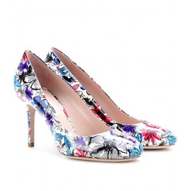 miu miu - PATENT-LEATHER PRINTED PUMPS