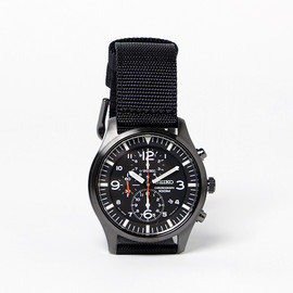 SEIKO - Chronograph Watch - Black/White/Red w/ Black NATO Strap