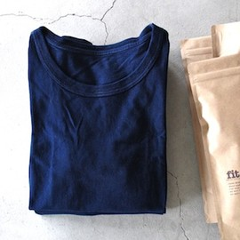 fit - CREW NECK S/S T-SHIRT (JAPAN BLUE)