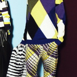 MSGM - 2013/AW ■KNITTED MULTICOLORED SWEATER WITH A ROUND NECKLINE 1