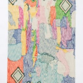 Anthropologie - Crewel Abstraction Rug