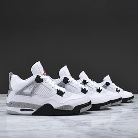 NIKE - NIKE AIR JORDAN 4 RETRO OG WHITE/FIRE RED/TECH GREY/BLACK