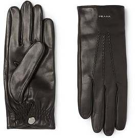 Prada - Cashmere-Lined Leather Gloves