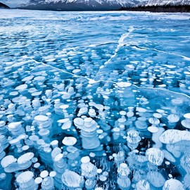 Lake Abraham, Canada - 'Frozen Bubbles'