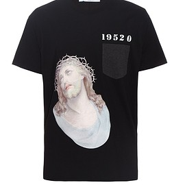 GIVENCHY - SS2016 Embroidered 1952 Jesus print cotton-jersey T-shirt