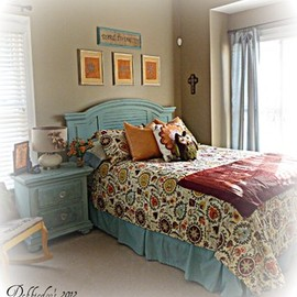 Fun funky guest room eclectic bedroom