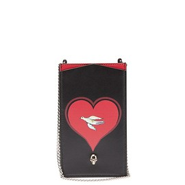 Alexander McQueen - Skull and heart-print chain-strap phone case