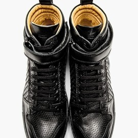 AMI - Woven Leather High-Tops