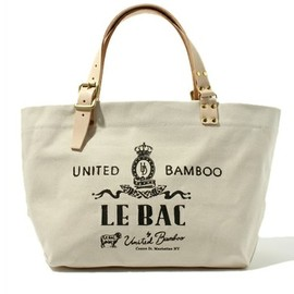united bamboo - LEATHER HANDLE TOTE BAG (WHITE)