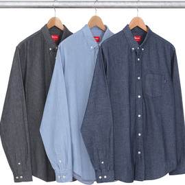 Supreme - Herringbone Denim Shirt