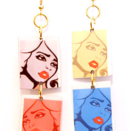 Miss Wax - CMYK earrings