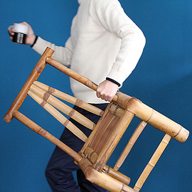 bamboo child chair / 竹の子供椅子