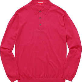 Supreme - Knit Long Sleeve Polo