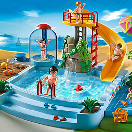 PLAYMOBIL - Pool with Water Slide