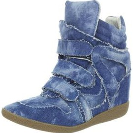 Steve Madden - Denim Wedge Sneakers