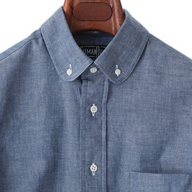 Gitman Brothers - CHAMBRAY OX/ROUND COLLAR BD