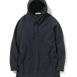 nonnative - DWELLER HOODED PULLOVER LOOSE-FIT COTTON SWEAT OVERDYED