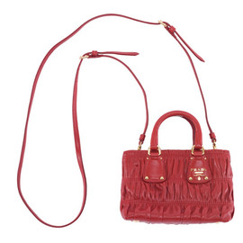 PRADA - Nappa Gaufe red Mini Bag