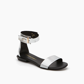 UNITED NUDE - United Nude Lin Lo Silver Embossed Rib Mirror Leather + Mirror Leather