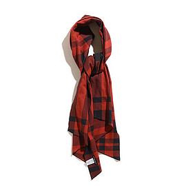 ENGINEERED GARMENTS - Long Scarf-Big Plaid-Red×Black