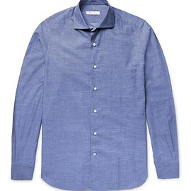 Loro Piana - Alain Slim-Fit End-On-End Cotton and Cashmere-Blend Shirt