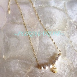 PURIMAROSE - Pearl shell necklace