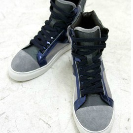 Lanvin - lanvin men shoes sneaker high top grey