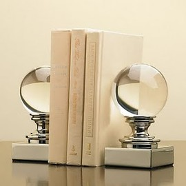 Restoration Hardware - Crystal ball and cast iron bookends
