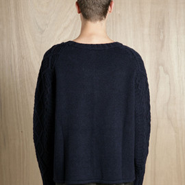 SUN SEA - WOOL AND NYLON FISHERMAN SWEATER
