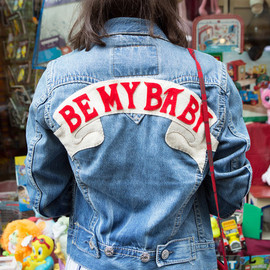 Olympia Le-Tan - 'BE MY BABY' denim jacket - (Sarah de Mavaleix)