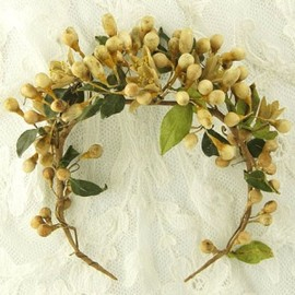 Antique - Wedding Wax Flower Tiara