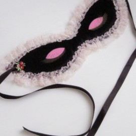 "1960's ""PINK & BLACK"" Cat Eye Night Mask"
