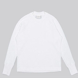 FRANKLIN TAILORED - Waffle Long Sleeve-White