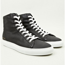 COMMON PROJECTS - COMMON PROJECT MEN'S BLACK TOURNAMENT HIGH WAXED CANVAS SNEAKERS