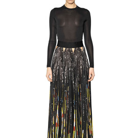 GIVENCHY - SEQUIN PRINTED VISCOSE JERSEY DRESS