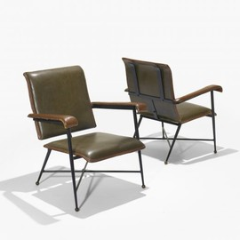 Jacques Adnet - Leather Chairs, Hermes Stiching, ca 1959