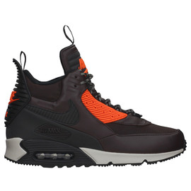 Nike - AIR MAX 90 SNEAKERBOOT WNTR - VELVET BROWN/BLACK-HYPER CRIMZON