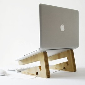 Eveline Pieters - new bamboo puzzle laptopstand