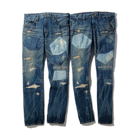 SOPHNET. - X-146 HARD DAMAGED DENIM PANT